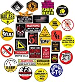 Sticker Decals 32 Hard Hat Sticker,Tool Box Stickers- 100% Plastic(Vinyl), Funny Decals Construction