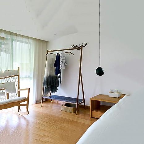piso estilo nordico AA Perchero De Madera Maciza Estilo Nrdico Ropa De