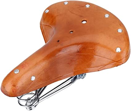 CDHPOWER Bicycle Cycling Saddle//Bicycle Seat Buffalo Leather Saddle Brown