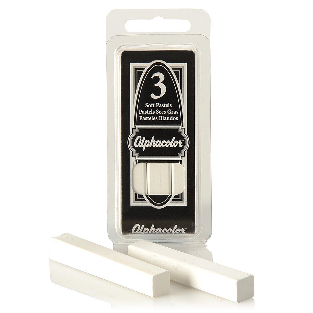 Quartet Alphacolor Soft Pastels, Charcoal, 3 Pastels per Pack (105C) ACCO Brands