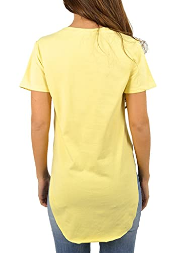 Smile YKK Long Sleeve Unregelmäßig Schnitt Damen Mädchen Sweatshirt Jumper  Tops Blusen T Shirt Oberteil: Amazon.de: Bekleidung