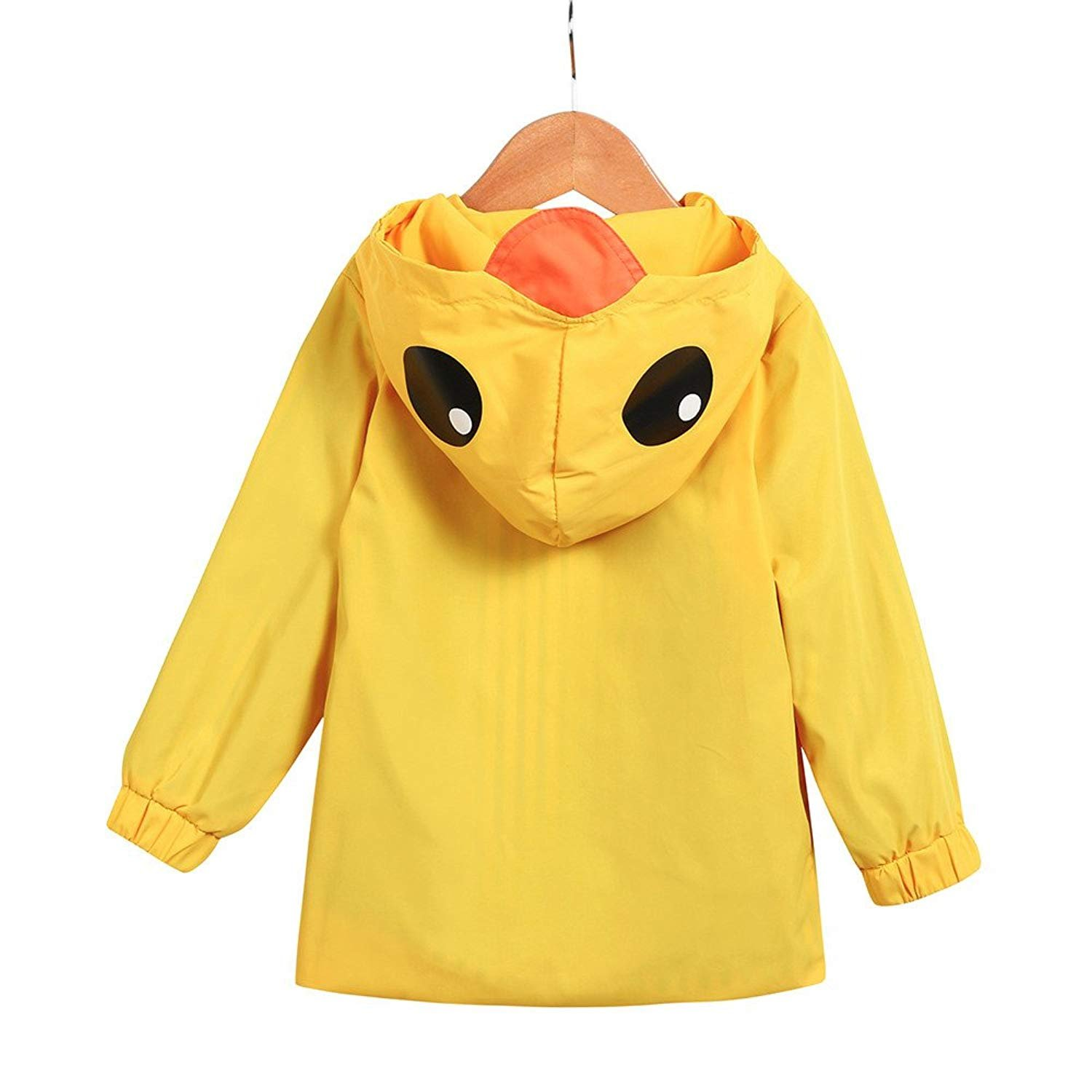 YOUNGER TREE Toddler Baby Boy Girl Duck Raincoat Cute Cartoon Hoodie Zipper Coat Outfit (Yellow, 80) by YOUNGER TREE (Image #6)