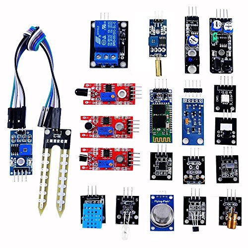 (OSOYOO 20 in 1 Ultimate Sensor Kit for Arduino UNO R3 Mega2560 Nano Raspberry Pi DIY Learning Package with On-line Instructions for Each)