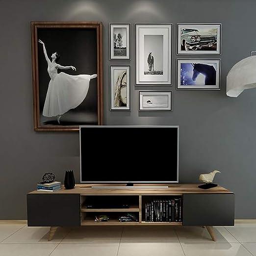 Homemania - Mueble para TV Dore, Madera, Nogal-Negro, 160 x 29,7 x 40,6 cm: Amazon.es: Juguetes y juegos