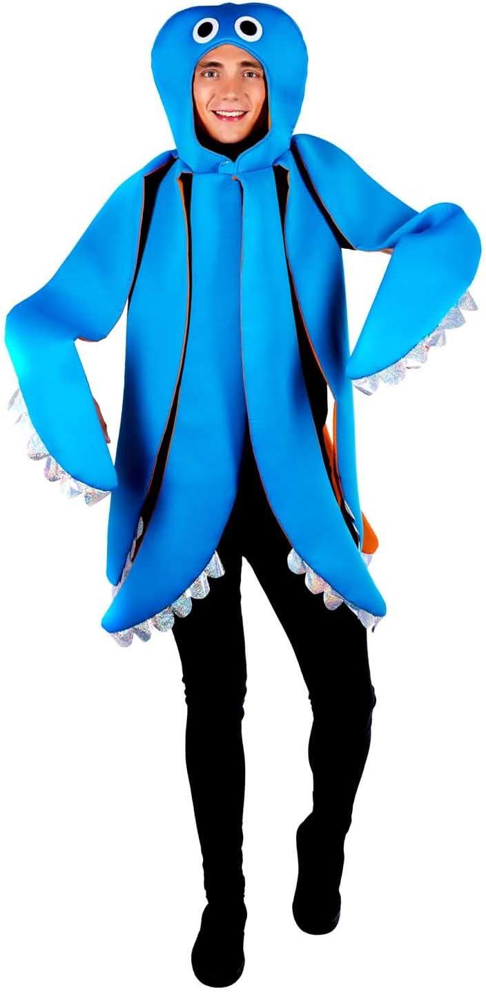 Fun Shack Azul Pulpo Disfraz para Hombres y Mujeres - Un Tamaño ...