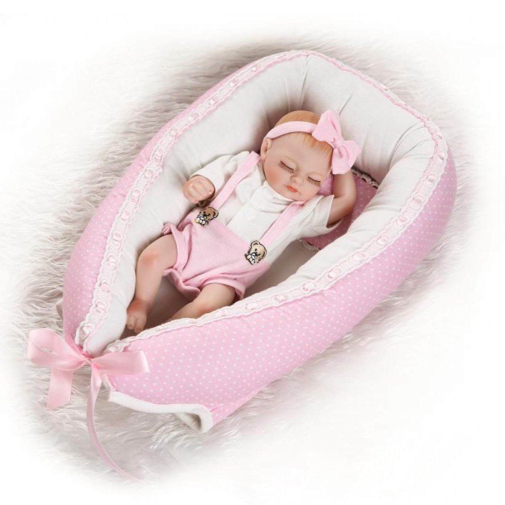 Twins Sleeping Bag Reborn Baby Dolls Mini Lindo Hand Doll Hecho A Mano Realistic Silicone Baby Baby Doll Soft Simulation 10 Pulgadas 26 Cm,Girl