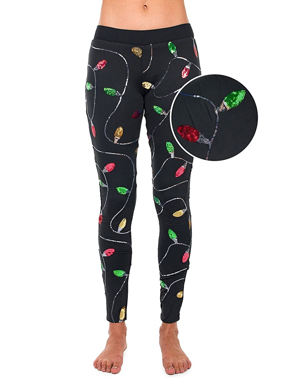 5d488f0fb9 Black leggings with colorful sequins sewn on - strongly attached so they  don't fall off. Stylish leggings ...