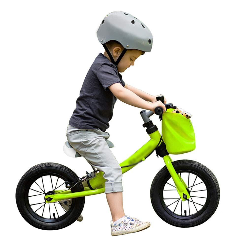 DUWEN Bicicleta de Dos Ruedas para niños con Equilibrio para niños, sin Pedales, Marco de Acero de Alto Carbono (Color : Green)