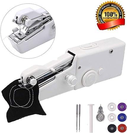 Máquina de coser de mano, mini máquina de coser eléctrica de mano ...