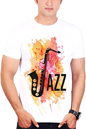 17d5431e9e Jazz Music t Shirt – Music t Shirts for Men and Women: Amazon.in: Clothing  & Accessories