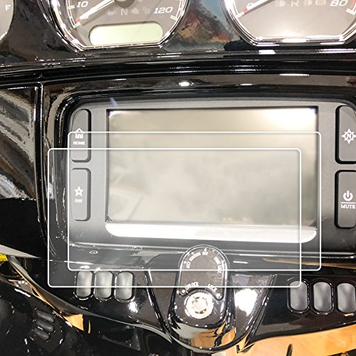 Peel Radio Card - Red Hound Auto 2 2014-2018 Compatible with Harley Davidson Street Glide Boom! Box Motorcycle Screen Saver 2pc Custom Fit Invisible High Clarity Touch Display Protector Minimizes Prints 6.5 Inch