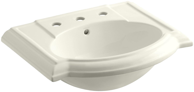 KOHLER K-2287-8-96 Devonshire Bathroom Sink Basin Biscuit