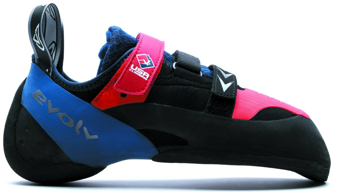 Evolv Kai Lightner LE Shaman Climbing Shoe - Red/White/Blue 6 by Evolv