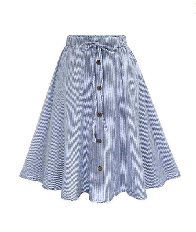 Womens New Purple Tulip Print Elastic Waist Lightweight Skirt Size 14-22