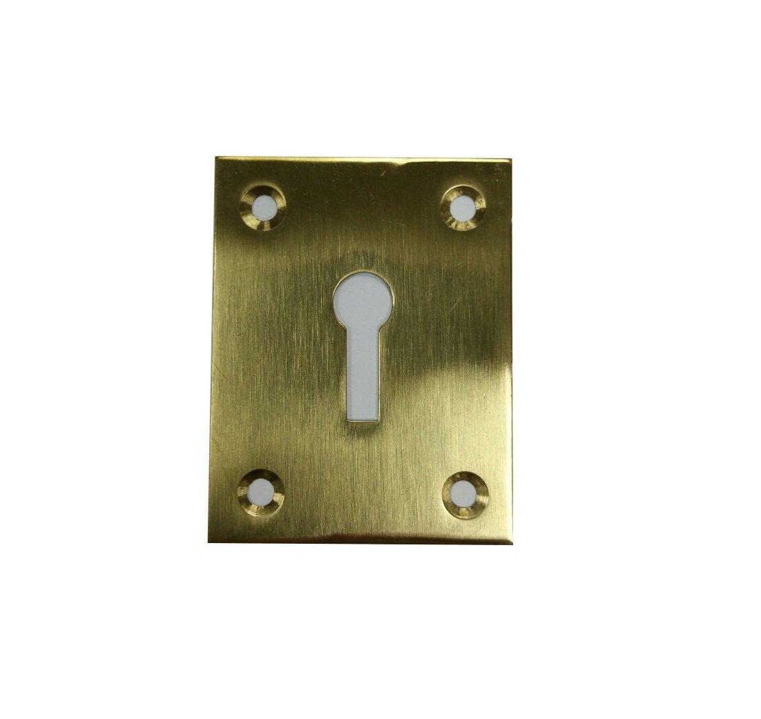 Bulk Hardware BH03580 43 x 56mm (1.3/4 inchx 2.1/4 inch) Open Escutcheon Polished Brass Bulk Hardware Limited