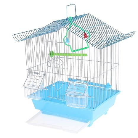 PETSOLA Iron Classic House Shape - Jaula Pequeña para Pájaros ...