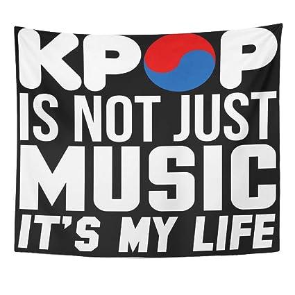 Amazon com: Semtomn Tapestry Artwork Wall Hanging Korean Kpop is My