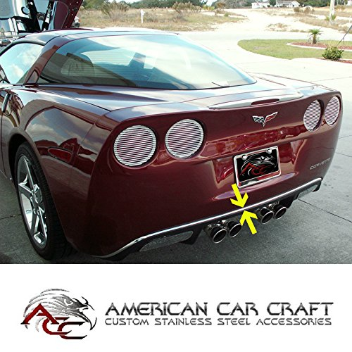 C6 Corvette Chrome Rear Bumper Valance Trim Fits: All 05 through 13 Corvettes