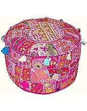 Traditional India Couverture en Patchwork pour Pouf Style Indien rétro 33x 45,7cm
