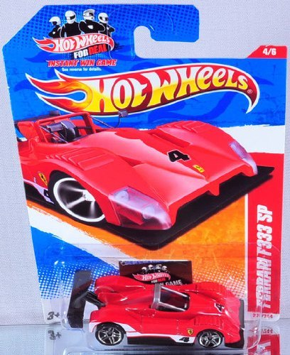 Hot Wheels Ferrari F333 SP, 4/6, Thrill Racers - Raceway, Color Red, 220/244, 1:64 Scale