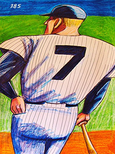 MICKEY MANTLE PRINT POSTER MAN CAVE #7 Baseball NY Yankees card hat bat glove uniform jersey (Jazz Festival Poster Card)