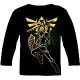COOTAKI Ze-L-Da Legend Poster Boys/Girls Print T-Shirt,Pop Long Sleeve Tee for Kids