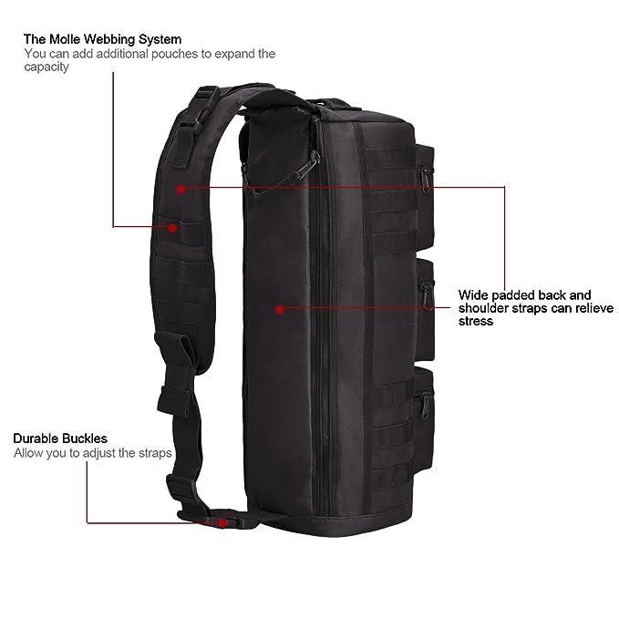 Tactical Assault Messenger Gym Hiking Camping bag