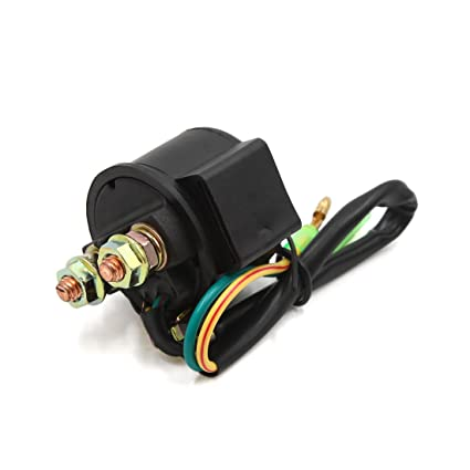 61BZeUfollL._SX425_ amazon com uxcell dc 12v 2 wire motorcycle scooter starter solenoid