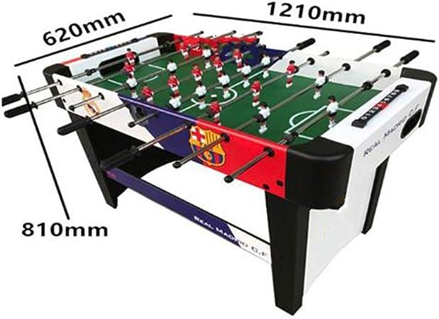 WXXW Futbolín De Mesa Juego Mesa De Fútbol Madera 120x62x80cm para Niño 3 Años y Adultos Sala De Juegos Interior y Exterior, Regalos Navideños, Manos De Entrenamiento, Juegos De Rompecabezas: Amazon.es: Deportes