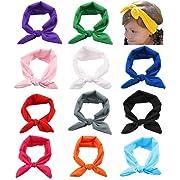 Toptim Baby Girl's Headbands Turban Knotted Headbands for Newborn,Toddler and Girls
