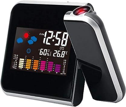 Ballylelly Reloj Digital electrónico de previsión meteorológica ...