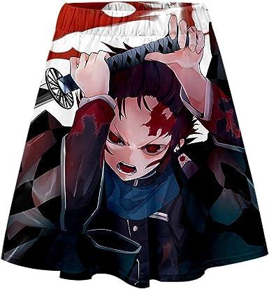 Yagao Demon Slayer: Kimetsu No Yaiba Falda Sexy 3D para Mujer ...