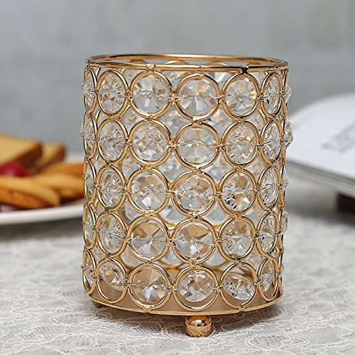 Crystals Flower Candle Holder - 8