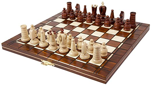 Schachspiel aus Holz 48 x 48 cm Königshöhe 95 mm Handarbeit Schach