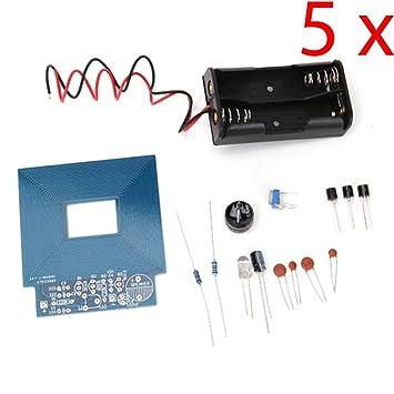 daoki 5pcs Simple Metal detector Metal localizador de producción electrónica DC 3 V? 5 V DIY Kit: Amazon.es: Electrónica