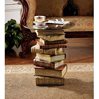 Amazoncom Design Toscano Power Of Books Vintage Decor Stacked - Coffee table that looks like books