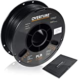 OVERTURE PLA Filament 1.75mm with 3D Build Surface 200mm x 200mm 3D Printer Consumables, 1kg Spool (2.2lbs), Dimensional…