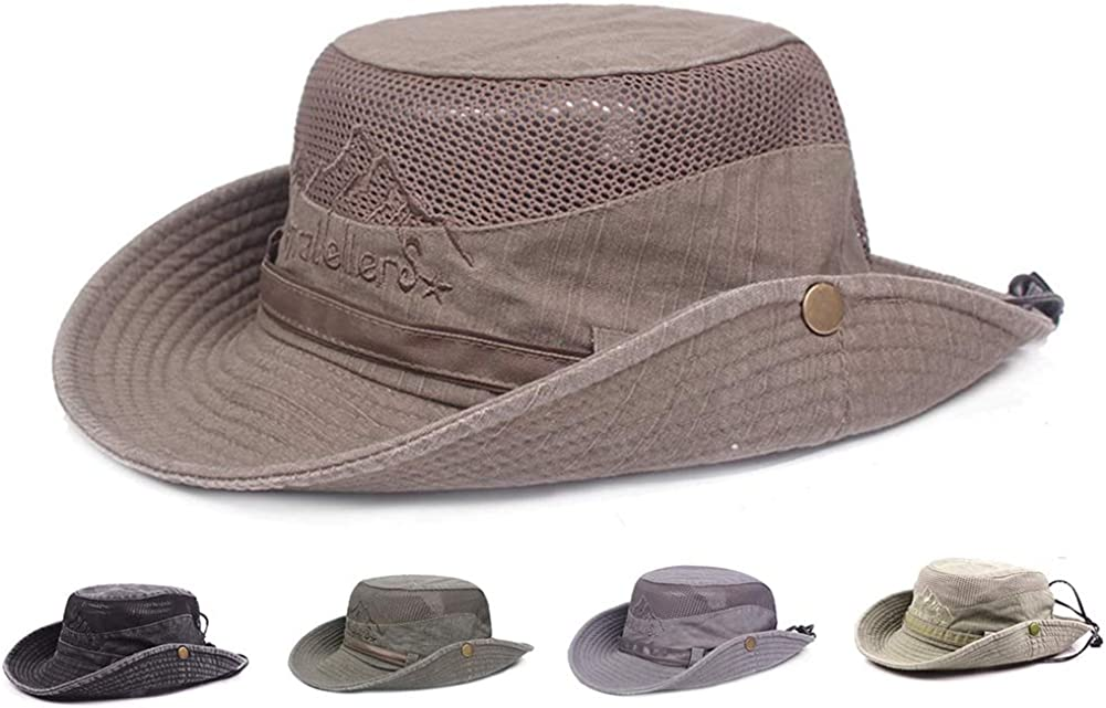 Obling Sun Hat, Fishing Hat UPF 50 Wide Brim Bucket Hat Safari Boonie Hat
