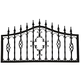 Mr. Chain Orleans Collection Fencing Midnight Black 24 Inch Decorative Lawn  Fencing Or Wall