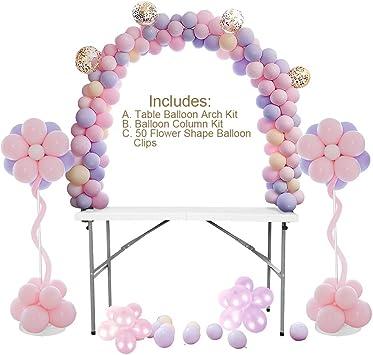 Amazon.com: Kit de arco para globos de mesa, kit de soporte ...