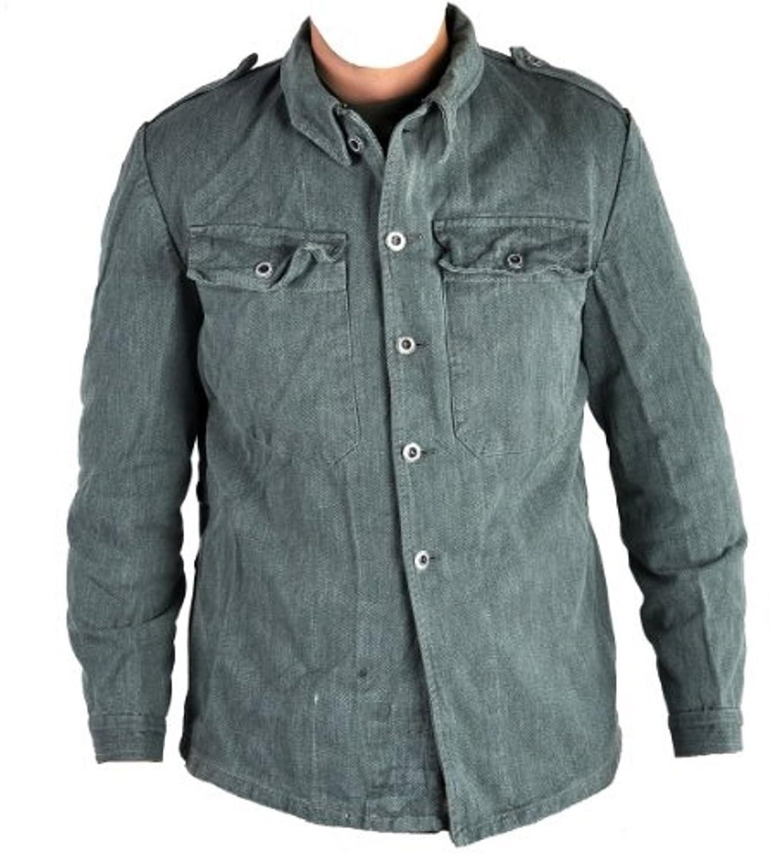 Swiss Military Issued Denim Work Shirt / Jacket (38): Amazon.co.uk ...