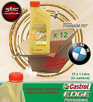 Castrol Edge Professional Longlife - Aceite motor para coche LL04 5W30 CASTROL LL04 12L: Amazon.es: Coche y moto