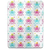 Funny Octopus Party Fitted Sheet: King Luxury Microfiber, Soft, Breathable