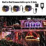 Brizled Christmas Lights, 65.67ft 200 LED Color