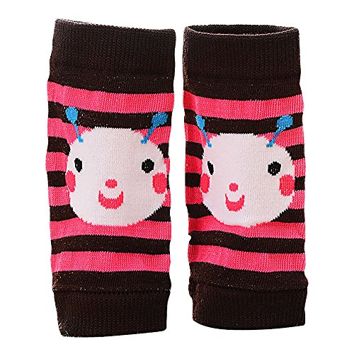 mk. park - Cute Kid Baby Protect Knee Elbow Crawl Walking Safety Sock Pad Kneepad Protector (Pink stripe)