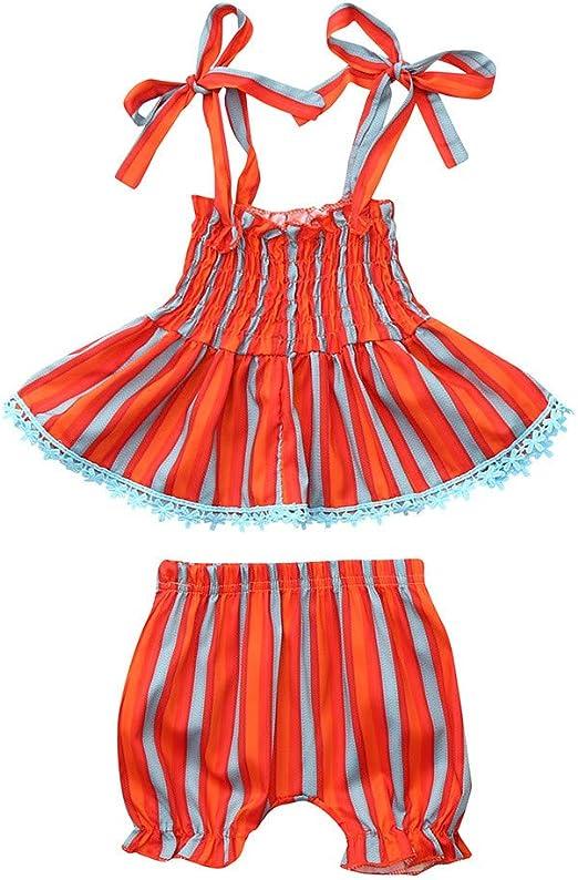 Shorts Kehen Kid Toddler Girl Summer Clothes 2pc Sleeveless Strap Top