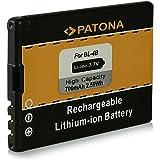 Batería BL-4B | BL4B para Nokia 1606 | 2505 | 2630 | 2660 | 2760 | 3606 | 5000 | 6111 | 7070 Prism | 7370 | 7373 | 7500 Prism | 7088 | N75 | N76 y mucho más… [ Li-ion, 700mAh, 3.7V ]