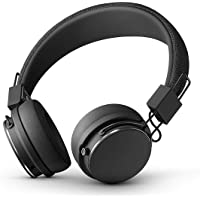 URBANEARS Plattan II Bluetooth Headphones, Wireless On-Ear Headphones, with 30+ Hours of Cord Free Playtime, Intuitive Control Knob and Convenient, Collapsible Design, Black