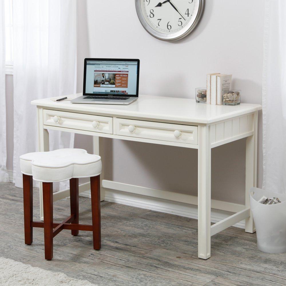 Amazon.com: Belham Living Casey Writing Desk - White: Kitchen & Dining