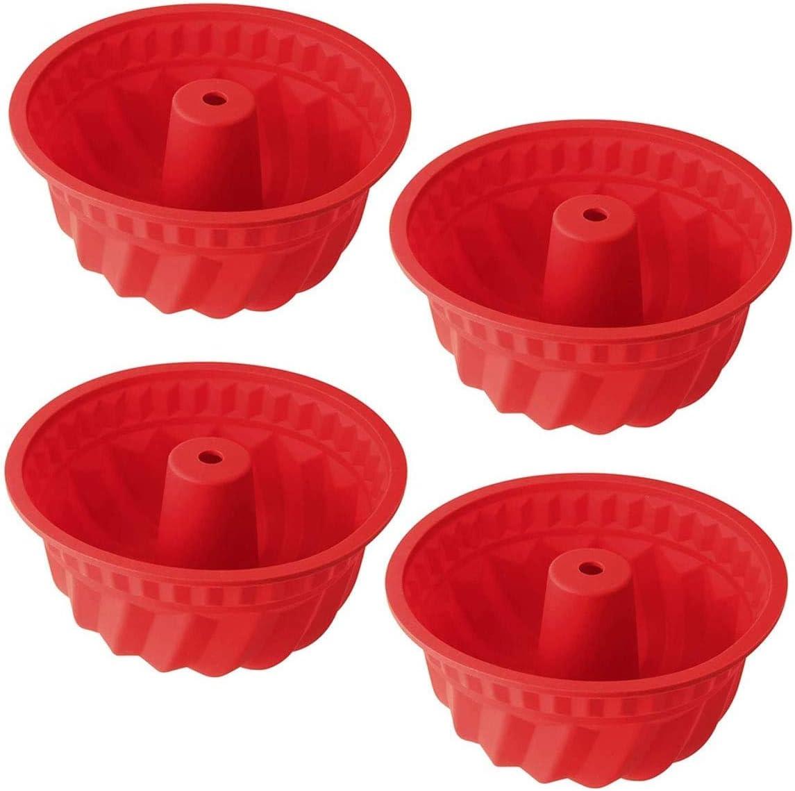 Silikon Gugelhupfform /Ø 15 cm BPA-frei Silikon Backform f/ür K/östlichen Gugelhupf Antihaft /& Leicht zu Reinigen hochwertige Silikon Kuchenform 4 St/ück von WENTS